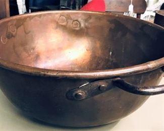 Copper Kitchen Bowl Detail
