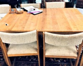 Hidden Leaf Maple Table with 6 Chairs
