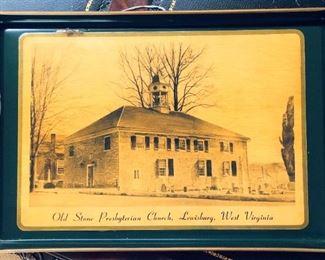 Old Stone Church Lewisburg WV Tray