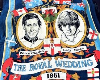 Prince Charles Lady Diana Royal Wedding Tea Towel