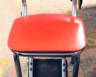 Red Kitchen Stool