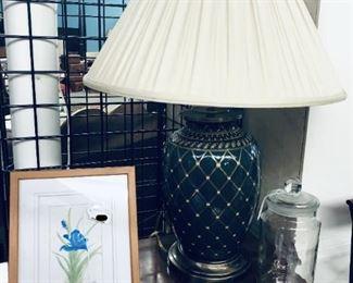 Signed & Numbered Flower, Lamp, Jar