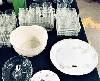 Various Glassware, Snack Set