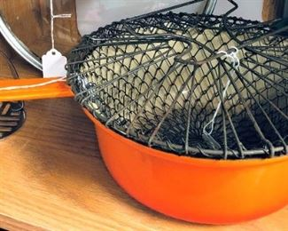 Veggie Basket and French Cast Iron Pan