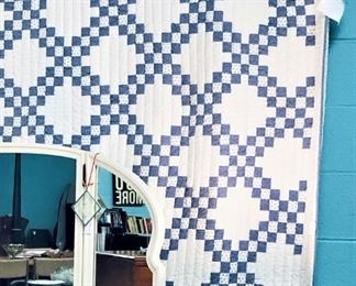 Blue & White Quilt - Made in India