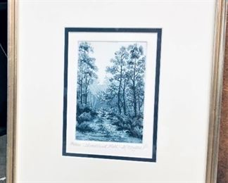 K. Miller Woodland Path Painting (Signed and Numbered)