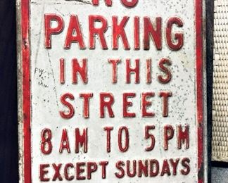 No Parking in This Street Sign