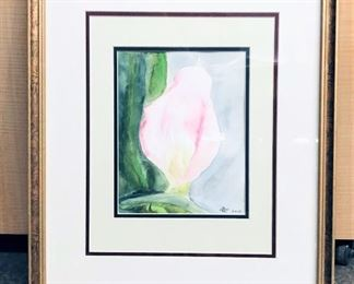 Signed and Dated Watercolor