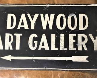 Daywood Art Gallery Sign