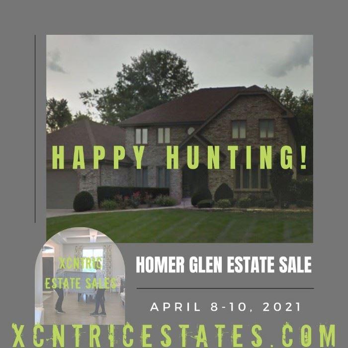 Xcntric Estate Sales : Homer Glen Estate Sale April 8-10, 2021