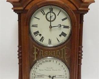 1012SETH THOMAS *FASHION* CALENDAR CLOCK 1879, 32 1/2 IN HIGH