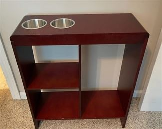 "REDUCED!  $30.00 NOW, WAS $40.00................Narrow Stand with Cup Holders 20"" x 8"", 24"" tall (C180)"