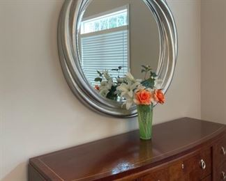 "REDUCED!  $225.00 NOW, WAS $300.00...................Very Large Mirror 43"" diameter (C175)"