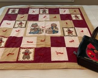 $12.00...............Small Quilt and Cardinal Bag (C172)