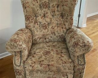 REDUCED!  $37.50 NOW, WAS $50.00.................Recliner nice but shows some wear (C155)