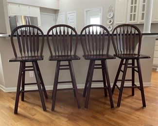 "HALF OFF!  $100.00 NOW, WAS $200.00................. 4 Cochran Bar Stools seat is 30"" tall $600.00 new (C139)F"