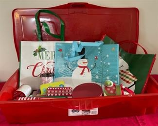 CLEARANCE!  $2.00 NOW, WAS $10.00..................Lot of Gift Wrap and Tub (C125)
