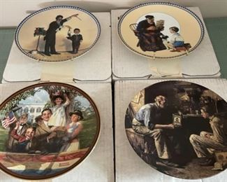 CLEARANCE !  $10.00 NOW, WAS $40.00......................4 Norman Rockwell Plates w/boxes (C114)