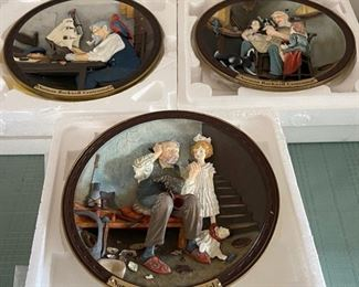 CLEARANCE !  $8.00 NOW, WAS $30.00.........................3 Norman Rockwell Plates w/boxes (C112)