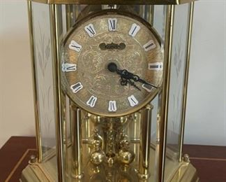 "HALF OFF!  $30.00 NOW, WAS $60.00................Kundo German Anniversary Clock 11"" tall (C102)"