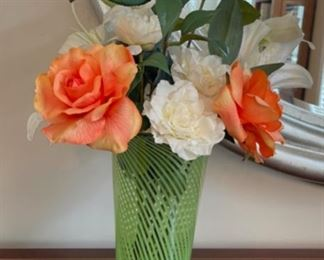 "CLEARANCE !  $4.00 NOW, WAS $16.00...................Floral Decor and Artsy Vase 22"" tall (C101)"