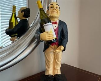 "$45.00................Wine Butler **wine not included 23"" tall (C100)"