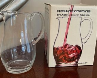 HALF OFF!  $4.00 NOW, WAS $8.00................Corning Pitcher with box (C090)F