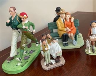 CLEARANCE !  $5.00 NOW, WAS $20.00.......................4 Norman Rockwell Figurines no boxes (C087)