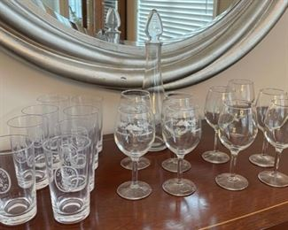 HALF OFF!  $8.00 NOW, WAS $16.00....................18 Pieces Glassware  (C077)F