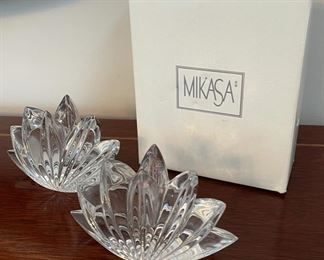 CLEARANCE !  $4.00 NOW, WAS $12.00.................Mikasa Candleholders with box (C068)