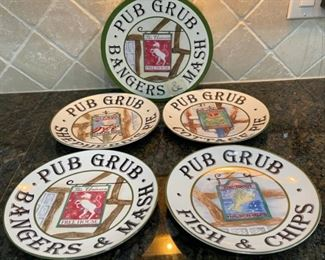 $10.00.......................Set of 4 pub Grub Plates with box (C055)