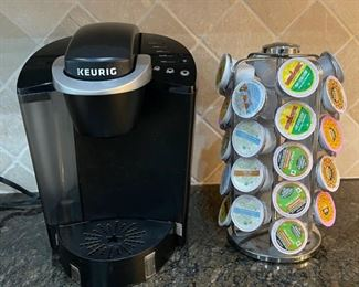$25.00.................Keurig Coffee Maker and Pod Holder (C040)
