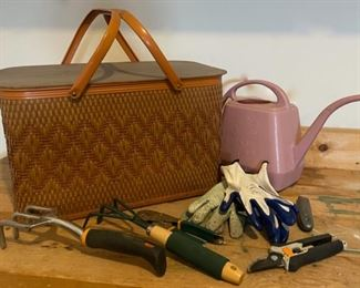 HALF OFF!  $7.00 NOW, WAS $14.00....................Picnic Basket, Yard Tools and more (C023)