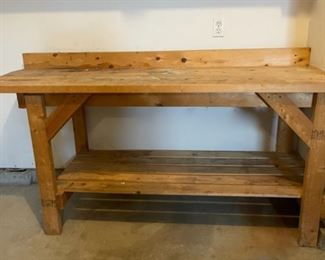 "$25.00.................Workbench 72"" x 25"", 39"" tall (C025)"