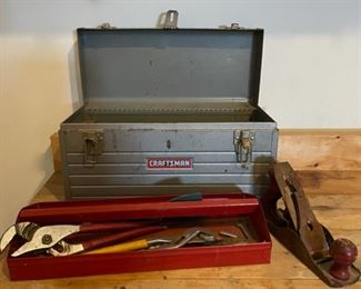 $25.00....................Crafstman Tool Box and some tools (C022)