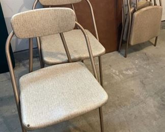 $45.00..................Vintage Card Table and 4 Funky Chairs (C)