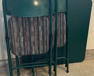 $20.00...................Card Table and 3 Padded Folding Chairs (C007)