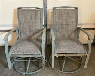 REDUCED!  $15.00 NOW, WAS $20.00...................2 Swivel Outdoor Chairs, do have some rust but comfortable (C003)