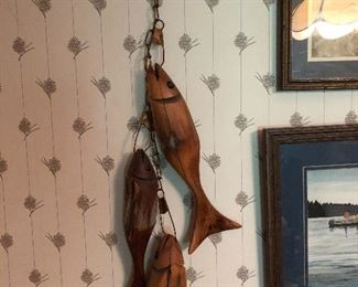SIGNED CARVED FISH