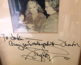 AUTOGRAPHED PHOTO GINGER ROGERS WITH JUDY'S MOM