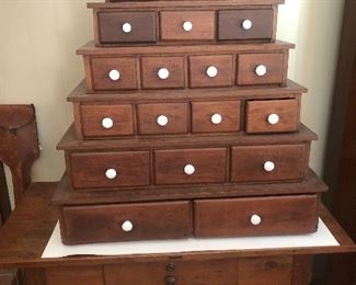 Early Walnut Spice Cabinet Early  Walnut Library Table