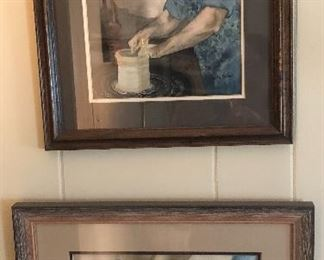 Paintings of Boyd Hilton by Judy Petrie