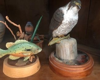 Early Carvings by J Hairfield (Judy Petrie Father)