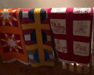 Assortment of Antique Quilts