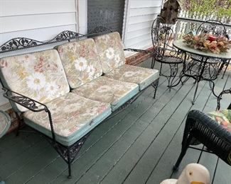 Wrought iron couch