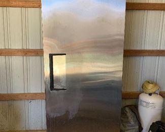 True Commercial single door freezer. $600
