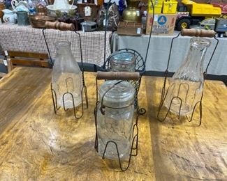 Antique jars holder