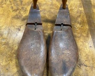 Antique wood shoe stretchers