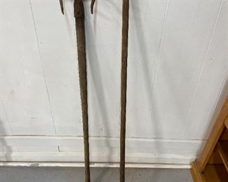 Antique yard tools