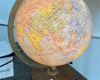 Vintage Lighted Globe